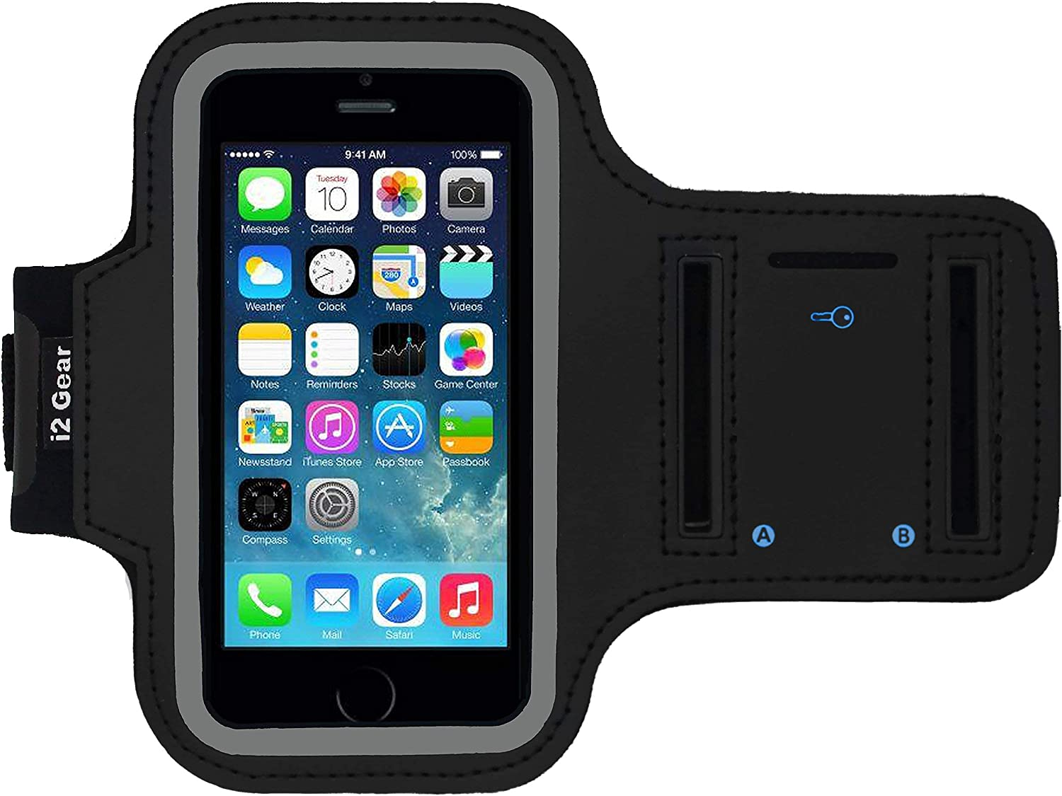 i2 Gear Cell Phone Armband Case for iPhone SE - Running Phone Ho