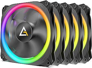 Lot de 5 Ventilateurs de boitier Antec Prizm 120 RGB 5+C 12cm (Noir), 0-761345-77512-0, 120mm