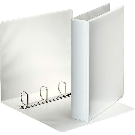 Esselte Group 49700 Essentials - Archivador para presentación (con anillas personalizable, A4, capacidad para 140 hojas, cartón recubierto de polipropileno, anillas 40mm), color blanco
