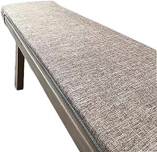 yzzseason Cojín de banco largo de alta calidad de 2, 3 y 4 plazas, cojín de banco antideslizante, extraíble, lavable, alfombrilla para muebles de interior y exterior (A,30 x 100 cm)