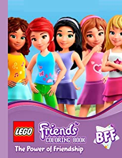 LEGO FRIENDS: The power of friendship. Coloring pages for kids ages 3-8