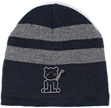 Custom Striped Beanie for Men & Women Cat Outline A Embroidery Acrylic