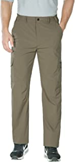Nonwe Men's Lightweight Quick Drying Hiking Camping Pants Khaki L/32 Inseam