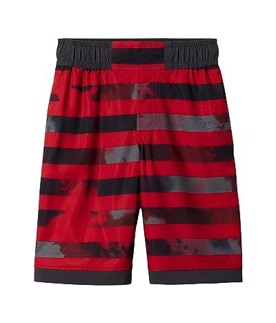 Columbia Kids Sandy Shorestm Boardshorts (Little Kids/Big Kids) (Mtn Red Tie-Dye Stripe/Shark) Boy