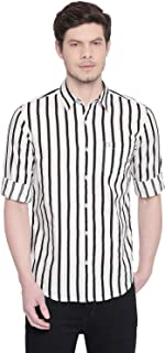 Mufti Striped Casual Full Sleeved Shirt