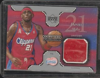 2a0f8e0b402 2002 Upper Deck Darius Miles Clippers Game Ued Jersey Basketball Card  DM-U