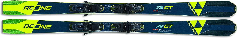 Fischer RC One 78 GT Skis w Blk Powerrail Bindings New item free GW RSW 10