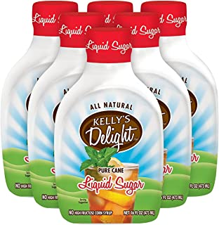 Kelly's Delight: 16 FL OZ (6 Pack) All Natural Pure Cane Liquid Sugar