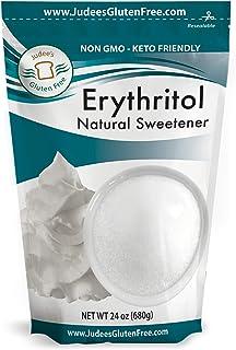 Judee's Erythritol Sweetener 24 Oz (Multipacks Available), Keto, Non GMO, Vegan, Dedicated Gluten & Nut Free Facility, Zer...