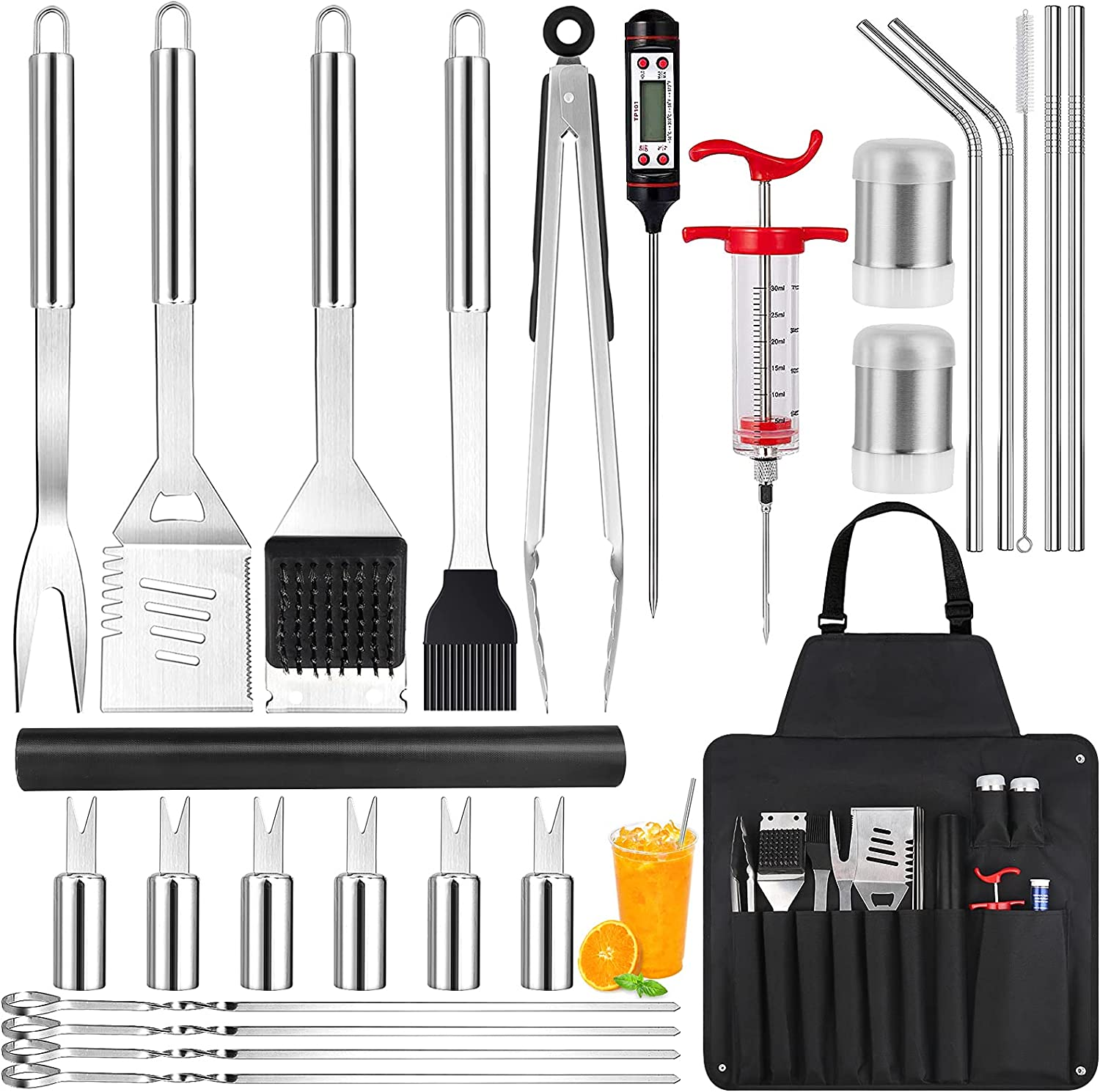 Cleansecr BBQ 26-Pieces Grill Tools Kit  $12.00 Coupon