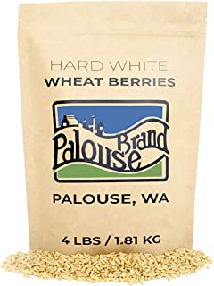 Sponsored Ad - Hard White Wheat Berries • 100% Desiccant Free • 4 lbs • Non-GMO Project Verified • Kosher Parve • USA Grow...