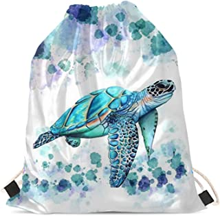 Upetstory Animals Patterned Drawstring Gym Bag for Teens Kids, Cinch Backpack for School Gifts