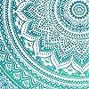 Aakriti Gallery Tapestry Regina Verde Ombre Hippie Arazzo Mandala Bohemian Psichedelico intricato Indiano copriletto 233,7 x 208,3 cm (Green) #3