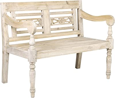 Amazon.com: Entryway Granbury Bench - Ornate Wood Frame ...