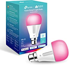 TP-Link Kasa Smart Wi-Fi Light Bulb, Multicolour, Dimmable, No Hub Required, B22 Lamp Base, Control from Anywhere, Works w...