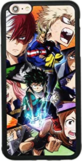 My Hero Academia Anime Manga Comic Theme Case for iPhone 6 Plus/6S Plus (5.5 Inch) TPU Silicone Gel Edge + PC Bumper Case Skin Protective Printed Phone Full Protection Cover
