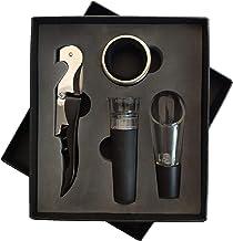 Tongke Wine Accessories Set of 4pcs - Wine Pourer, Wine Drip Ring, Wine Stopper & Corkscrew Wine Opener, Comes encased in ...