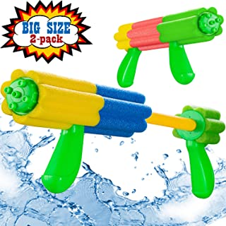 Aouker Water Blaster Gun Foam Soaker Water Pump Shooter, Light Weight Squirt Guns Swimming Pool Beach Water Fighting Toys for Kids and Adults, 2 Pack