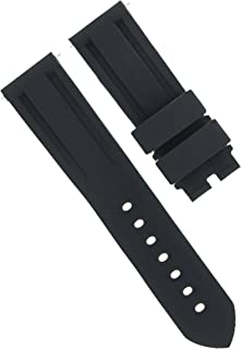 Ewatchparts 22MM - 24MM Rubber Diver Strap Band Deployment Clasp Buckle for PANERAI Black #2