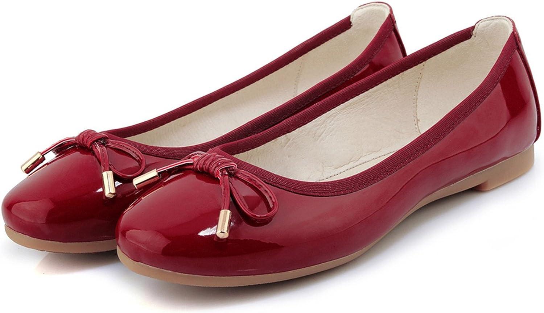 100FIXEO Women Slip-On Cute Bowknot Comfy Ballet Flats Casual shoes