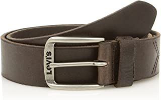 Levi's Men's Classic Top Logo Buckle Belt, Brown (Dark Brown), 85 cm (Manufacturer size: 85)
