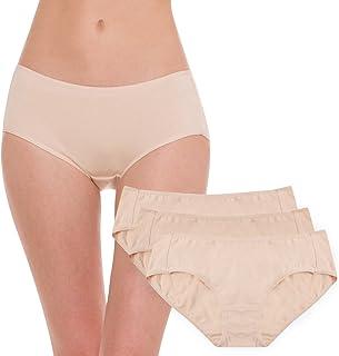 Hesta Womens Organic Cotton Basic Panties Underwear 3 Pack