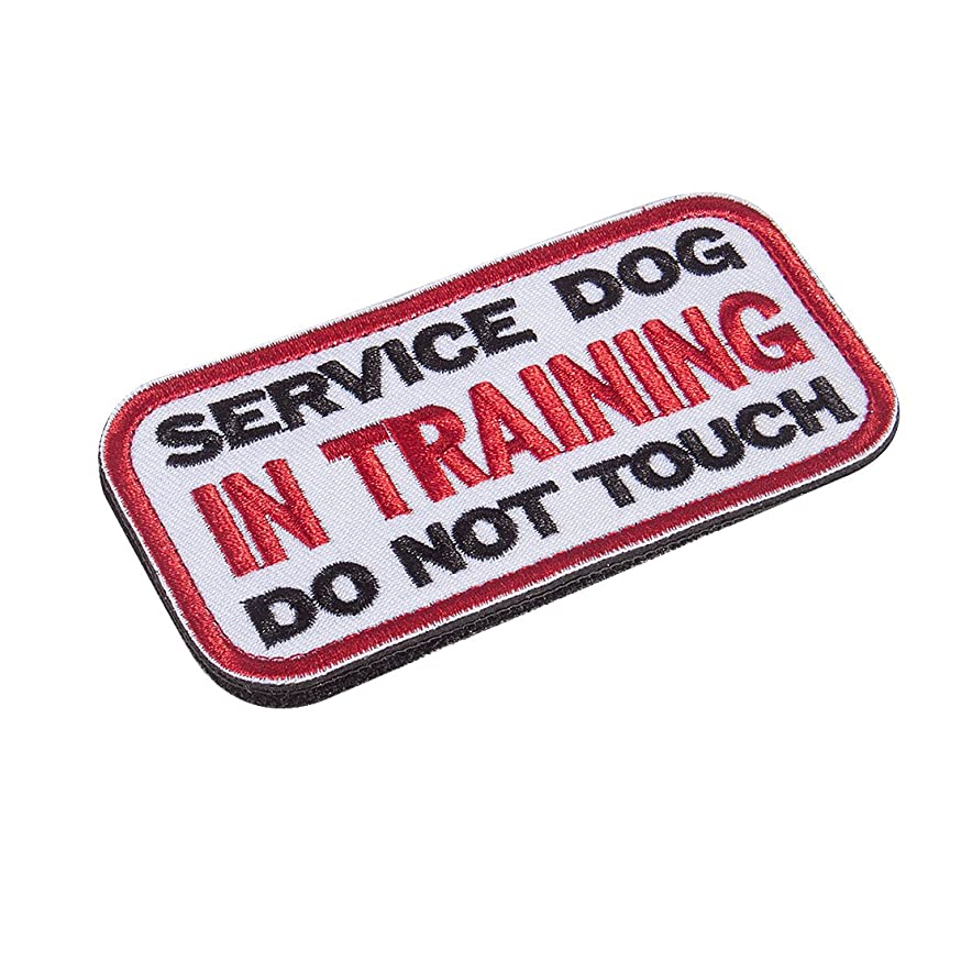 Feliscanis Service Dog in Training Dog Patches Hook and Loop Both Sides 2 Pack