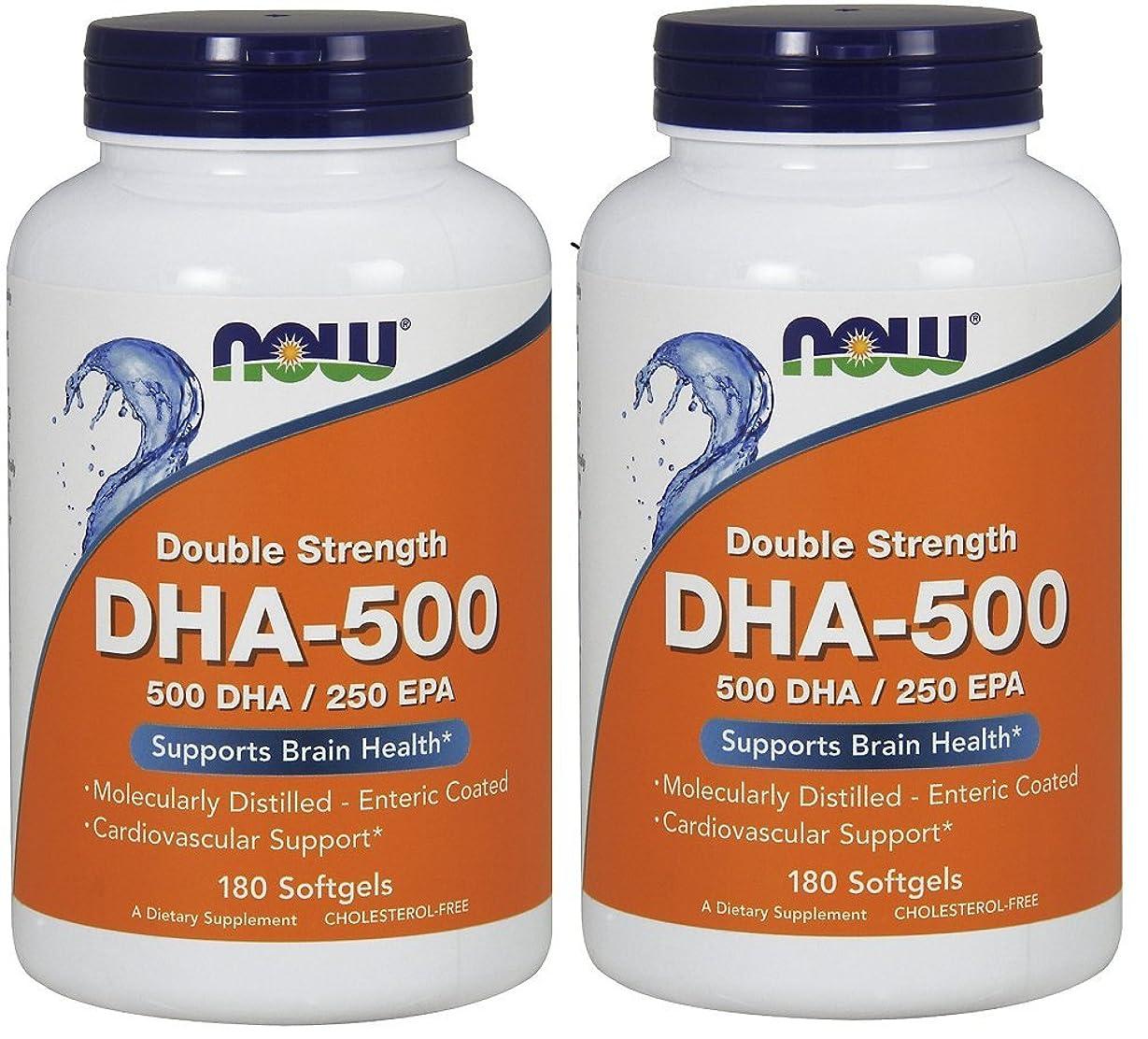 地下排出データム[海外直送品] ナウフーズ  (2個セット)  DHA 180 Softgels 500 Mg