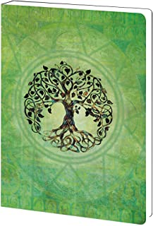 Tree-Free Greetings Tree of Life Inspirational Soft Cover Journal, 5.5 x 7.5 Inches, 160 Lined Pages, New Age Spiritual Gift, Green (JR89951)