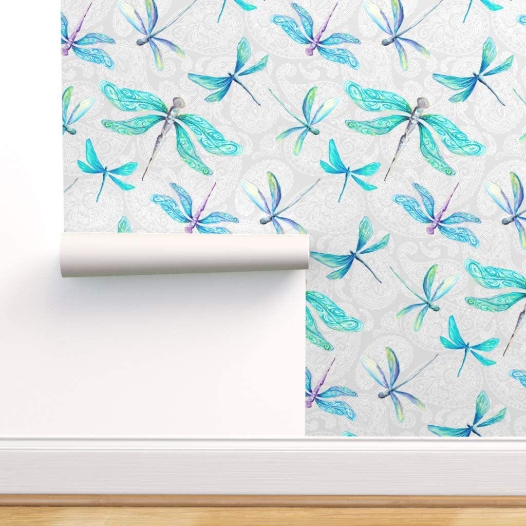 Spoonflower Peel Free SEAL limited product shipping and Stick Dragonflies Removable Wallpaper Pais
