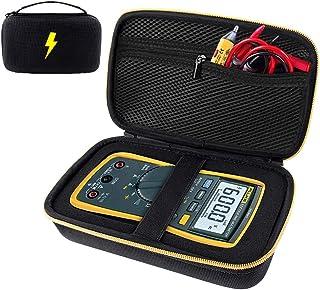 Case Compatible for Fluke 117/115/ 116/ 87V/ 88V/ 101, Also Fit Crenova MS8233D/ Neoteck 8233D PRO/AstroAI TRMS 6000 Counts Volt Digital Multimeter and More with DIY Foam