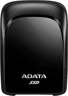 ADATA USB3.2Gen2 外付SSD 480GB 名刺サイズ PS4 メーカー動作確認済 ブラック ASC680-480GU32G2-CBK