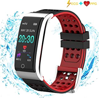 iSwim Fitness Tracker, ECG&PPG Heart Rate Monitor Watch Color Screen, IP67 Waterproof, Step Counter, Calorie Counter, Sleep Monitor, Pedometer, Smart Watch Kids Women Men (Black)