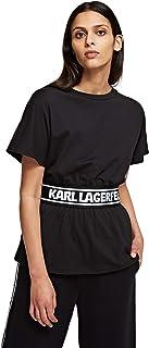 KARL LAGERFELD Logo Tape Top Camiseta para Mujer