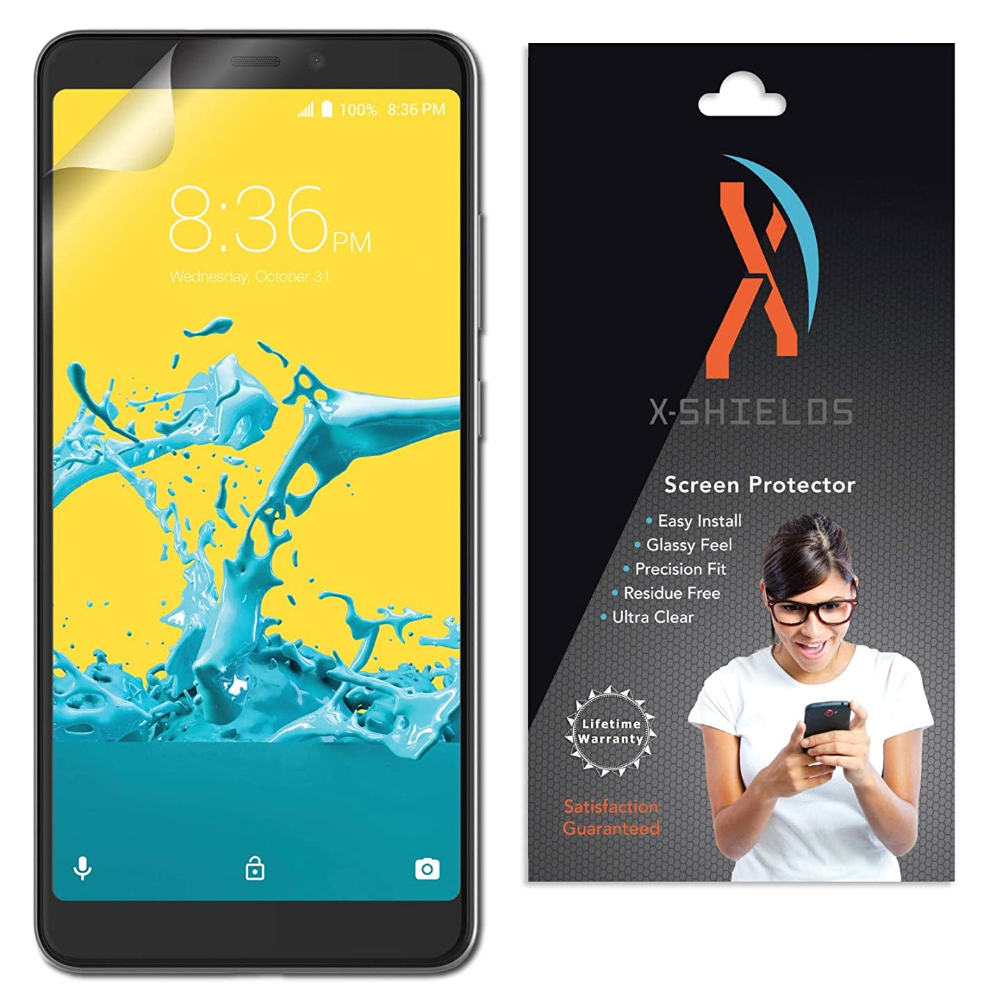 XShields High Definition (HD+) Screen Protectors for ZTE Blade Max 2s (Maximum Clarity) Super Easy Installation [4-Pack], Advanced Touchscreen Accuracy