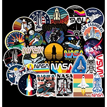 Honch Vinyl Stickers Pack NASA Space Astronaut 100 Pcs Decals for Laptop Ipad Car Suitcase Luggage Water Bottle Helmet