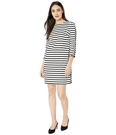 Kate Spade New York Sailing Stripe Scallop Dress (French Cream) Women