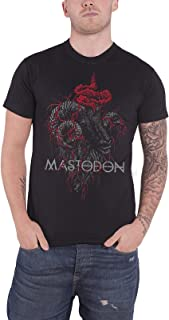 Mastodon T Shirt Rams Head Band Logo Colour Official Mens Black