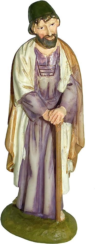 ferrari e arrighetti statuina del presepe: san giuseppe linea martino landi 10 cm 2410na02
