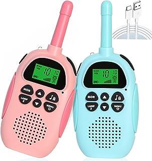Kids Walkie Talkies, Speelgoed voor 3 4 5 6 7 8 9 10 Jaar Oude Jongens, 2 KM lange afstand, spion speelgoed voor jongens, ...