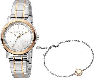 ساعة كلارا فاشن كوارتز للنساء من اسبريت، موديل ES1L188M0075، متعدد الالوان
