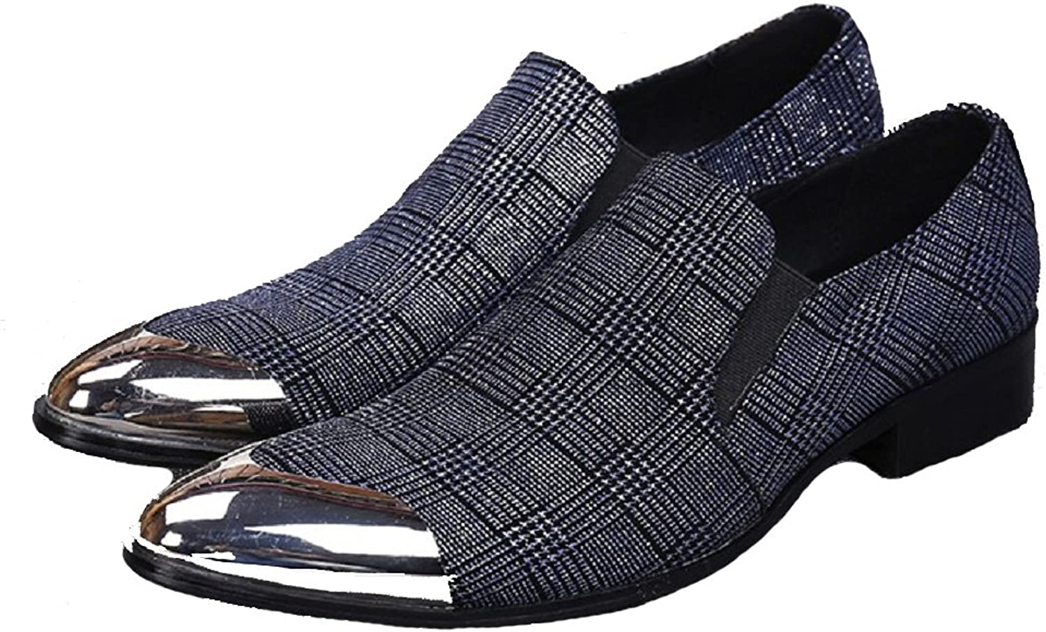 Cover Plus Size 5-12 New bluee Genuine Leather Dress Loafers Mens shoes