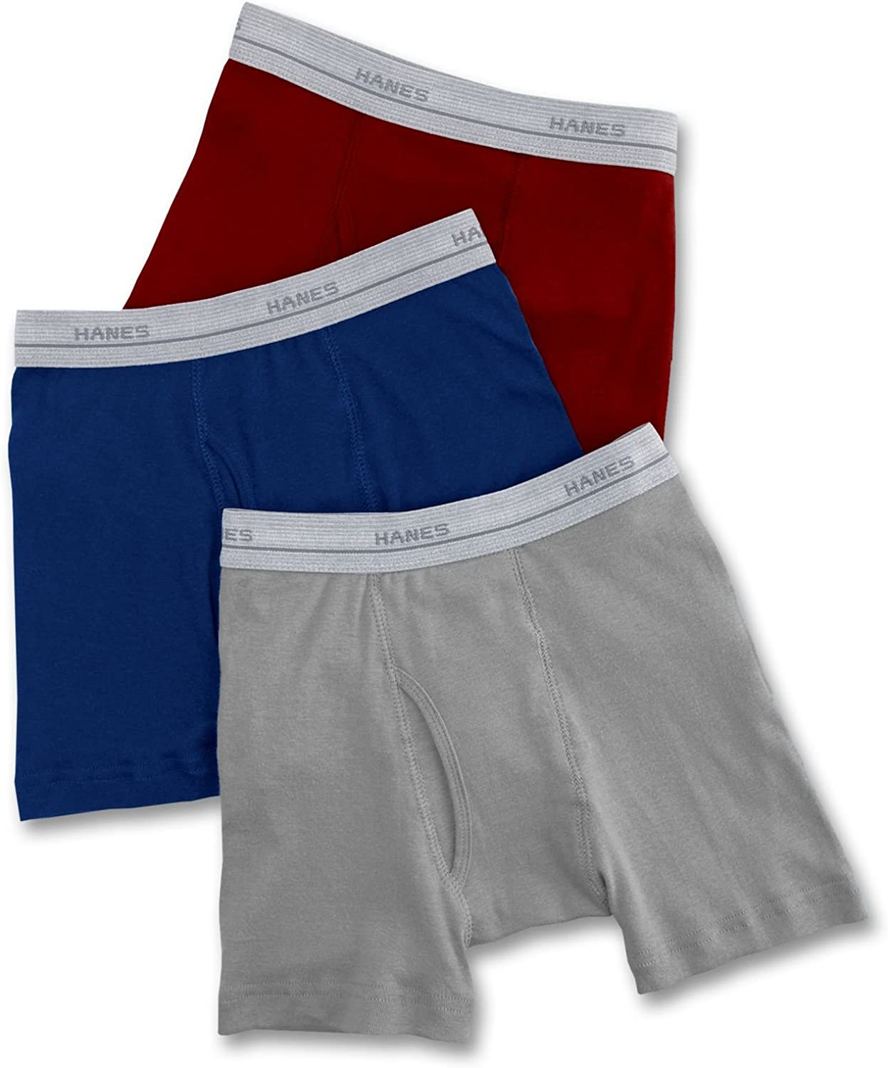 Hanes Boys Classic Exposed Waistband Boxer Briefs (2-Pack)