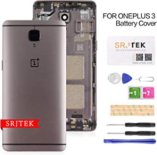 Replacement Battery Door Back Cover Compatible for OnePlus 3/3T A3010 OnePlus Three 3 A3000 A3003 Metal Back Cover Housing+ SIM Card Tray with Camera Glass Lens Repair