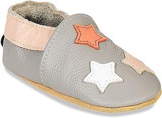 HMIYA Chaussures Cuir Souple bébé Chaussures Premiers Pas bébé pour Garçon Fille Nourrisson Efant