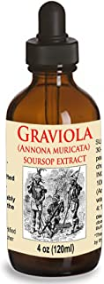 Organic Graviola Liquid Soursop Extract 4 oz Wildcrafted Tincture (Annona Muricata) : Immune System Booster (4oz)