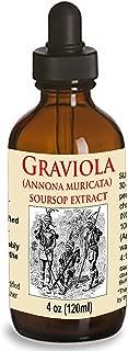 Organic Graviola Liquid Soursop Extract 4 oz Wildcrafted Tincture (Annona Muricata) : Immune System Booster (4oz)