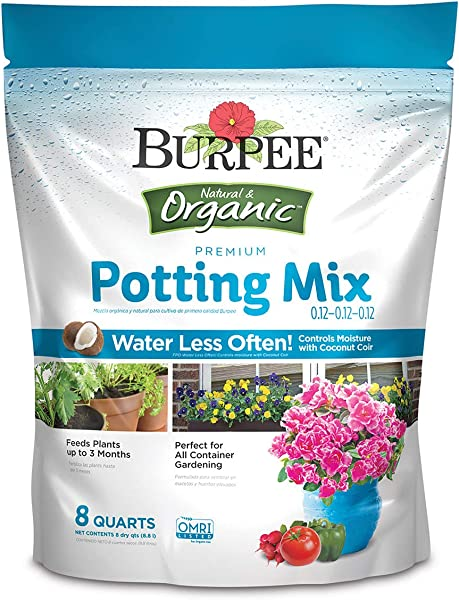 Burpee Organic Premium Potting Mix 8 Quart