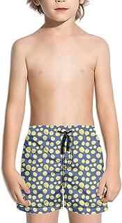 Unisex Lemon Tropical Fruit Slice Colorful Kids Swim Shorts Custom Boys Swimming Trunks for Girls Swimtrunks