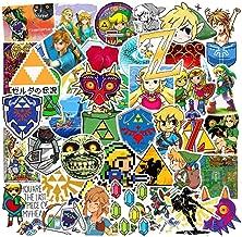 Qweryboo The Legend of Zelda Waterproof Stickers, Vinyl Stickers Decal for Skateboard Pad MacBook Laptop Luggage Bike( 47 PCS)